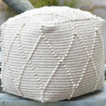 Block Pouf (Ivory)
