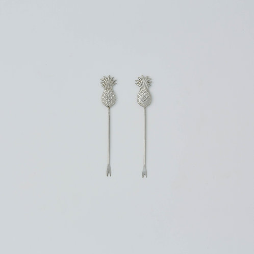 Pineapple Picks Set (Silver)