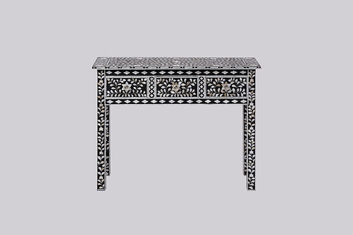 Mother of Pearl Inlay High Leg Console - Black