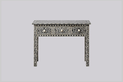 Bone Inlay High Leg Console - Grey