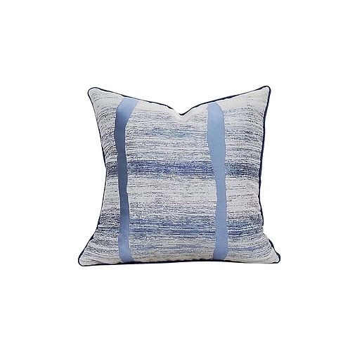 Faux Silk Cushion (Blue)