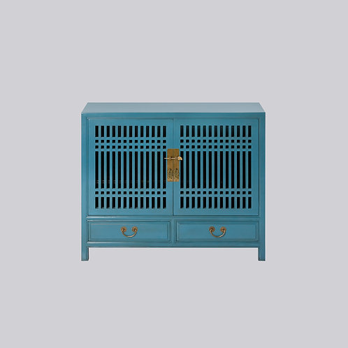 Lattice Shoe Cabinet (Turquoise)