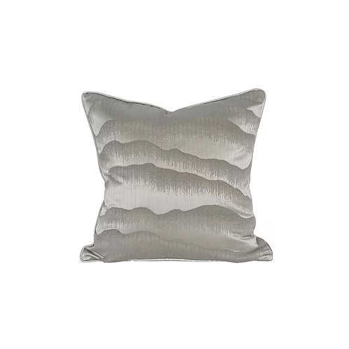 Faux Silk Cushion Cover (Grey Abstract)