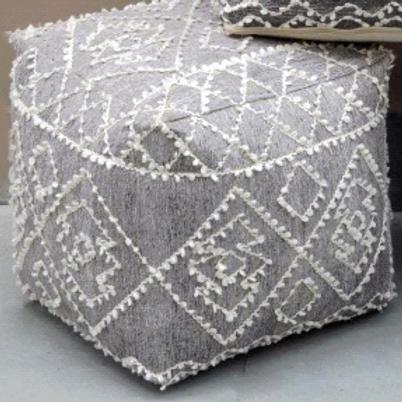 Block Pouf (Silver)