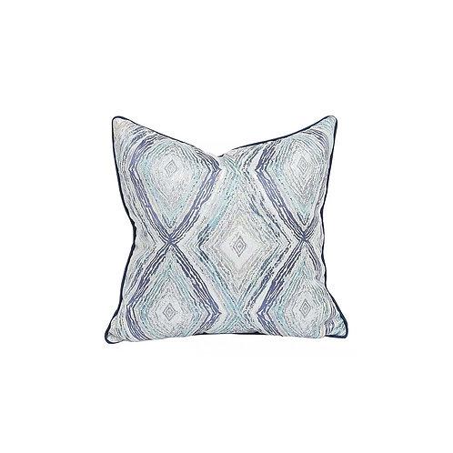 Faux Silk Cushion (Blue)