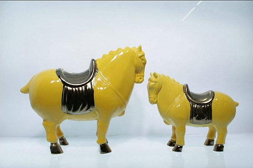 Antique Horse (Yellow & Bronze)