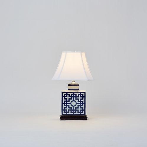 Rectangle Jar Lamp 15 Inch (Blue & White)