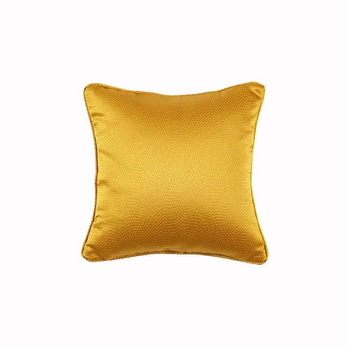 Faux Silk Cushion (Yellow Dotted)