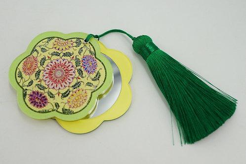 Pocket Mirror - Traditional Motif (Green)