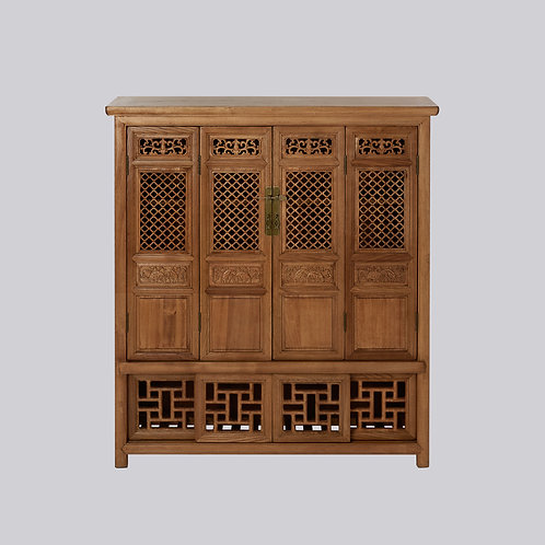 Lattice Panel Cabinet (Natural)