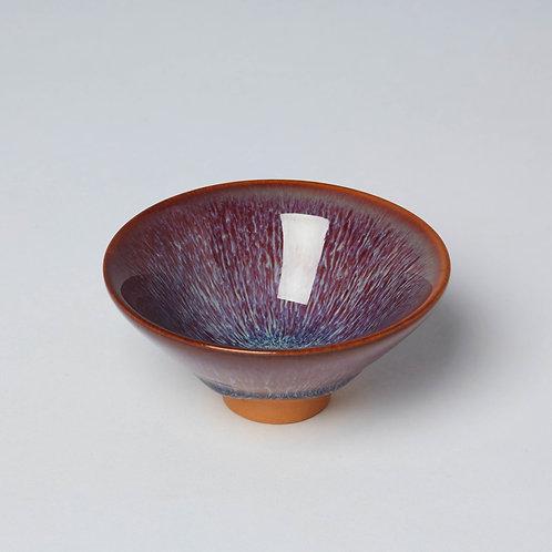 Porcelain Tea Cup (Radiating Aubergine)