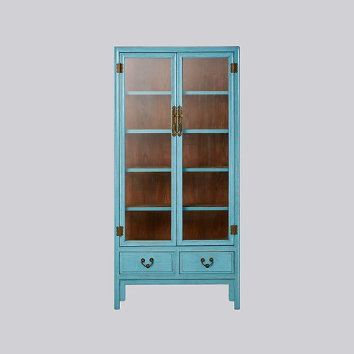 Glass Cabinet (Baby Blue Antique)