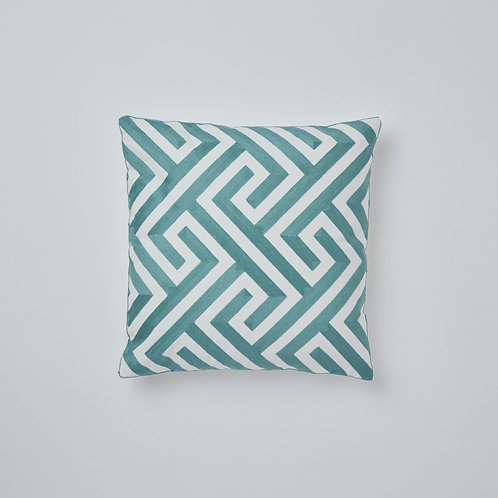 Chain Stitch Cushion (Green)