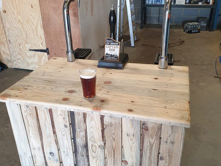 Rustic bar nearly finished!