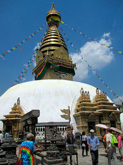 Stupa von Badnath in Kathmandu