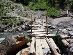 auch diese Brücke ist geschafft