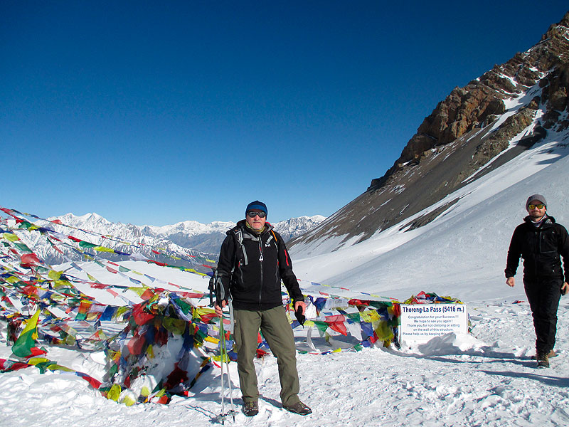 am Thorong Le Pass auf 5416m