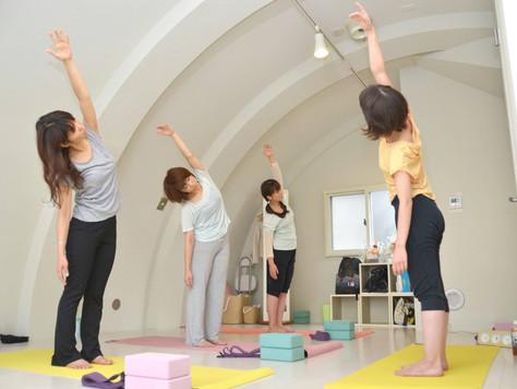 A-yogaレッスンでの身体の変化