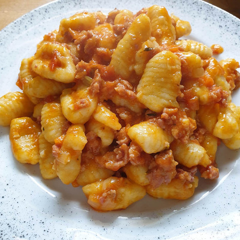 Potato Gnocchi with Sausage Ragù