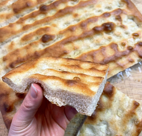 Focaccia Genovese with wholemeal flour