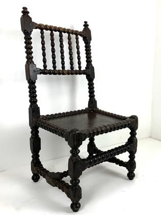 Carolean Bobbin Turned Backstool