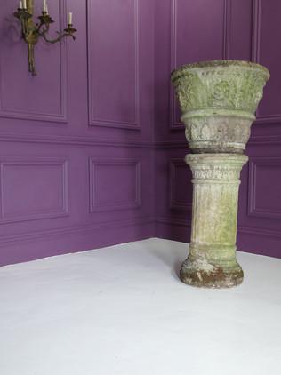 Weathered Urn on Plinth