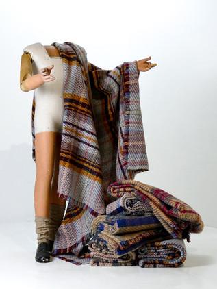 Light Welsh Wool Throw