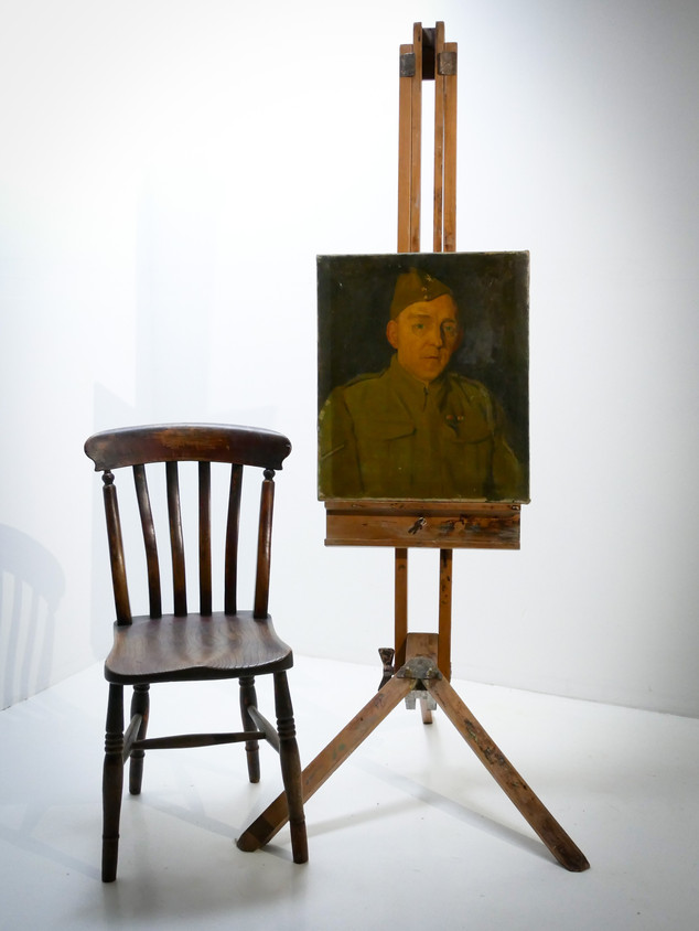 Oil in Canvas Military Portrait