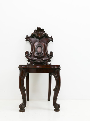 Carved Mahogany Hall Chair
