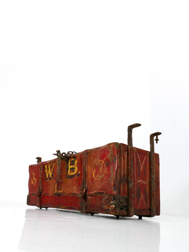 Painted Wagon Toolbox