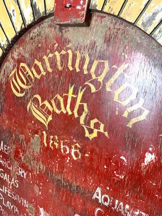 Warrington Baths Sign