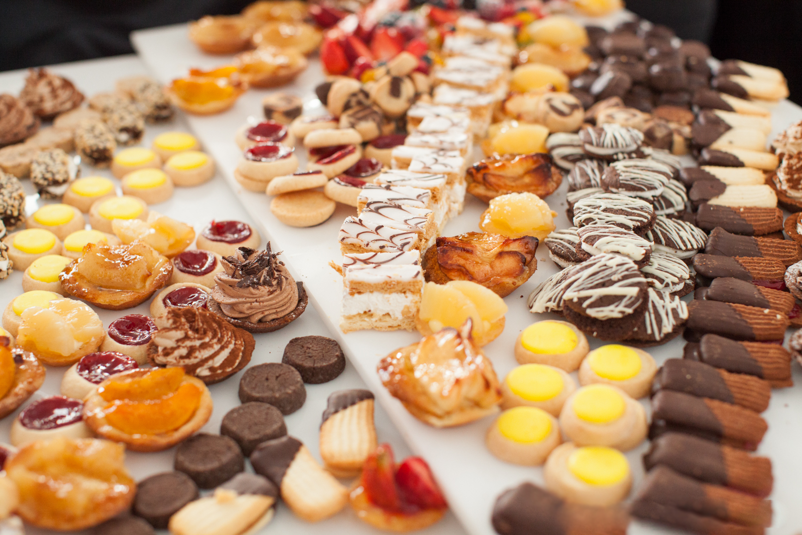 Decorative cookies and pastries