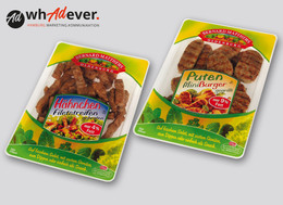 BERNARD MATTHEWS  Gestatung einer Packungsrange . Foodtainer und Sortenlabel.