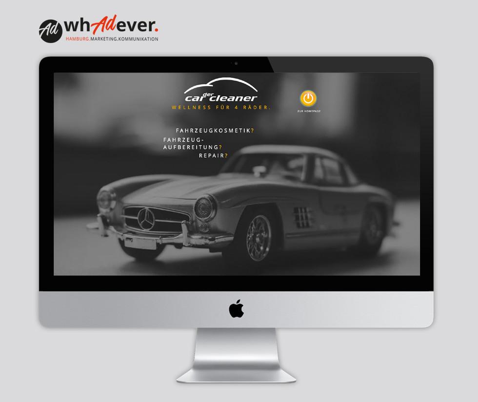 DER CAR CLEANER  Schaffung einer Markenidentität. Corporate Design.Web. Print. Klassisch & Responsiv.