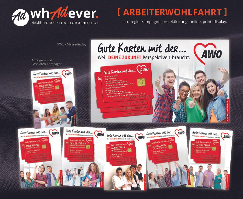 ARBEITERWOHLFAHRT  AWO-Ausbildungskampagne.  Entstaubung und Refreshing einer zu aktivierenden Markenidentität.