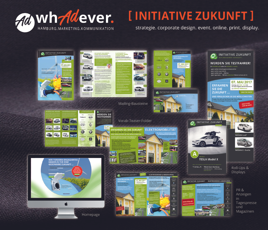 INITIATIVE ZUKUNFT  Konzept. Corporate Design. Print. Web. Media. Eventplanung.  Whadever you need.