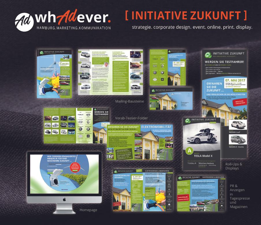 INITIATIVE ZUKUNFT  Konzept. Corporate Design. Print. Web. Media. Eventplanung.  Whadever you need.