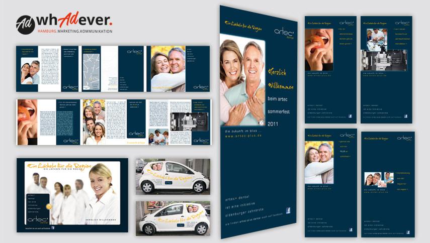 ARTEC ZAHNLABOR  Schaffung einer Markenidentität. Corporate Design. Print. Web. Display.