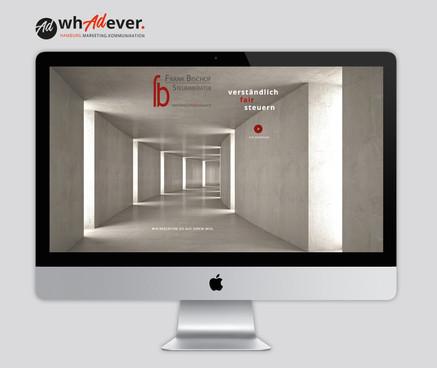FRANK BISCHOF STEUERBERATER  Schaffung einer Markenidentität. Corporate Design. Web. Print. Klassisch & Responsiv.