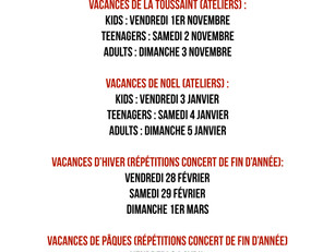 ⚡ATELIERS ET REPETITIONS 2019/2020⚡