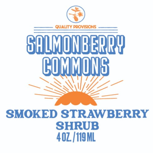 Smoked Strawberry Shrub