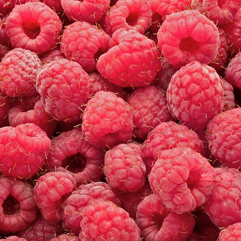 Raspberries, fresh frozen