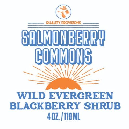 Wild Evergreen Blackberry Shrub