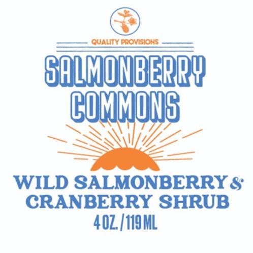 Wild Salmonberry & Cranberry Shrub