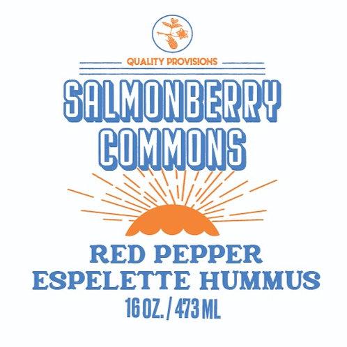 Roasted Red Pepper Espelette Hummus