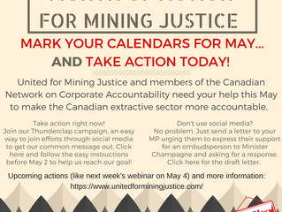 Take Action for Mining Justice This May!