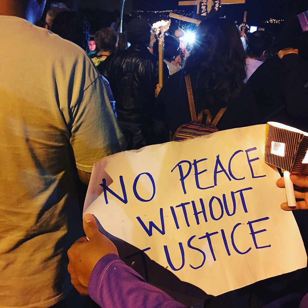 Peace Vigil outside of US Embassy the day after Juan Orlando Hernandez assumed power as president of Honduras.