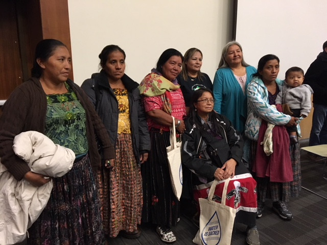 Indigenous Maya Q'eqchi women with Clan Mother Judy Da Silva and Chikadee Richard.