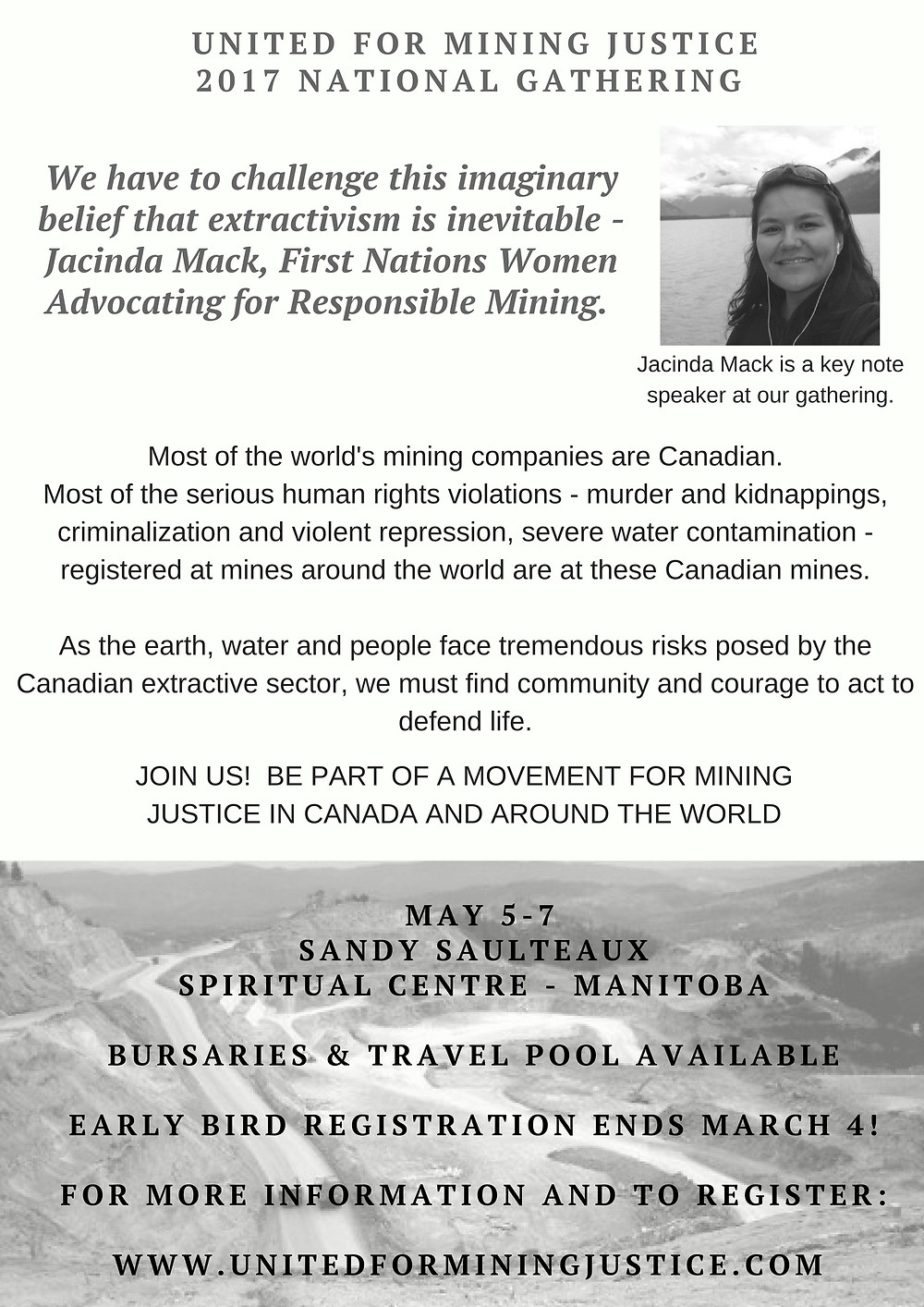 Early Bird Registration for United for Mining Justice Gathering Closes Soon!
