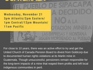 WEBINAR: CLOSURE & RESTITUTION AT GOLDCORP MINE IN GUATEMALA